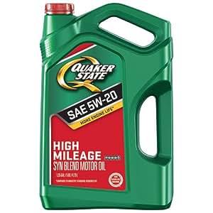 Amazon.com: Quaker State 550044934 High Mileage 5W-20 Motor Oil (GF-5), 5 quart: Automotive