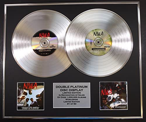 N W A Double Platinum Record Display Limited Edition Coa Straight Outta Compton 4 Life Küche Haushalt