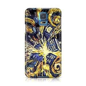 Doctor Who Van Gogh's Exploding Tardis Full Wrap Rough Case Skin, Fashion Design Image Custom , Durable Hard 3d Case Cover for Samsung Galaxy S5 Regular, Case New Design By Art-print
