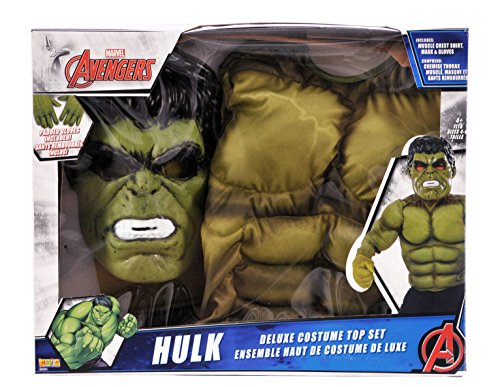 Costumes The Hulk (Rubies Boys Hulk Super Costume Top Set, Green, One)