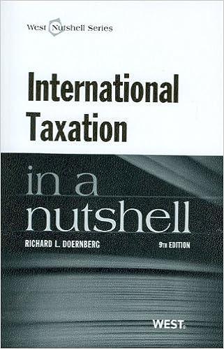 Amazon com: International Taxation in a Nutshell, 9th (In a