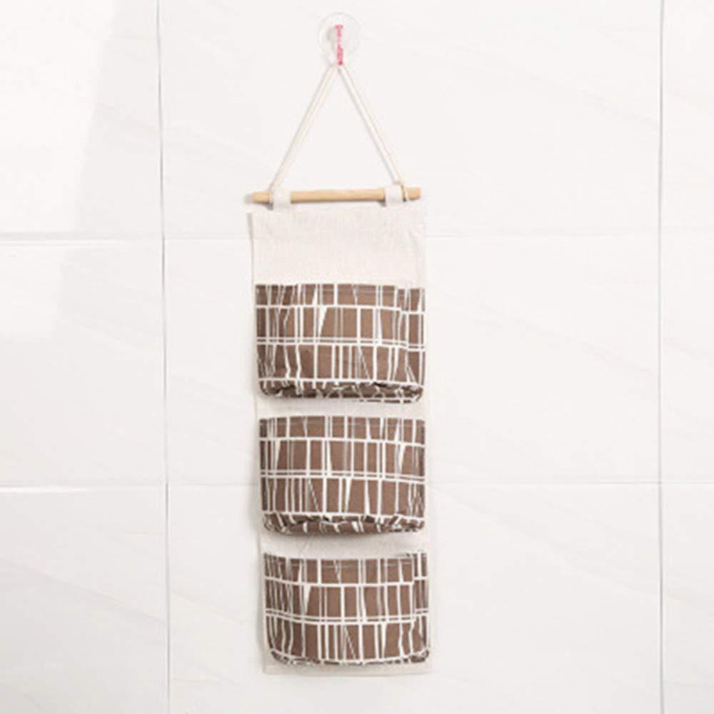 Stockton 1 St/ück Flamingo H/ängende Aufbewahrungstasche Wand T/ür Schrank Wand Organizer mit 3 F/ächern Wand Taschen f/ür Gadget Make-up Spielzeug