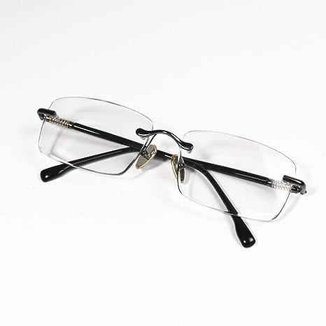 UICICI Gafas de Sol de Color marrón sin Marco y con Lentes ...