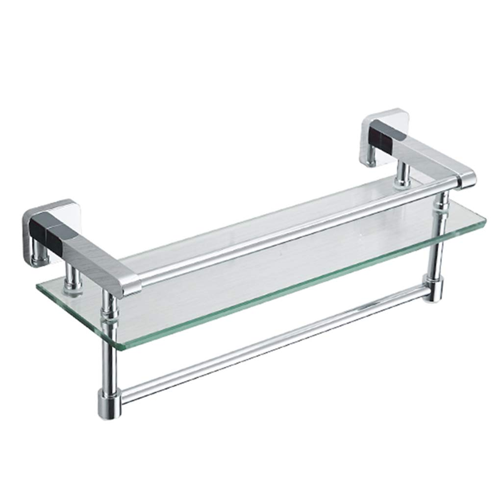 Multi-Function Bathroom Partition Copper Storage Rack Thickened Materials. Storage Shelf Multi-Layer Glass Bathroom Shelf 7mm Thick Tempered Glass