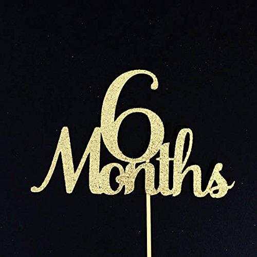 6 Months Cake Topper Half Cake Topper Half Birthday Cake Topper 1