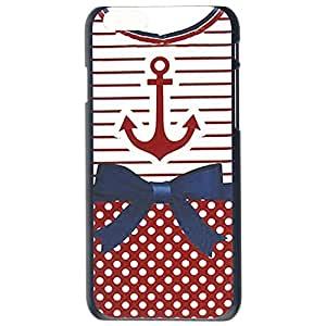 Fashion nchor Chevron Retro Vintage Tribal Nebula Pattern Red Blue Bowknot Plastic Hard Case Cover Back Skin Protector For Apple iphone 6 4.7G Plus by Alexism Size127