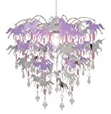 Unicorn Children Bedroom Lamp Shade for Girls Nursery Decoration Pink Purple Silver with Shiny Penda
