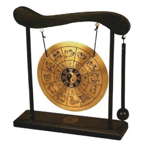 - Asian Home Zen Art Brass Feng Shui Desktop Gong