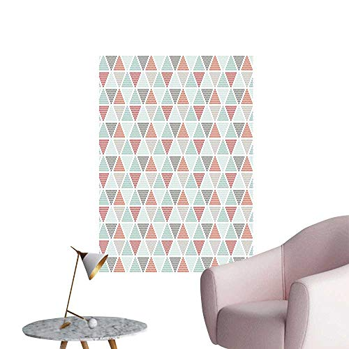 Geometric Wall Mural Wallpaper Stickers Harlequin Pattern with Small Crosses in Pastel Colors Contemporary Mosaic Design Background Wall Stickers Multicolor W32 x H48