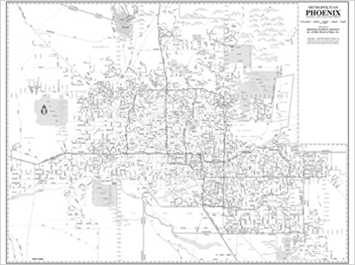 Metropolitan Phoenix Arterial And Collector Streets Wall Map Dry