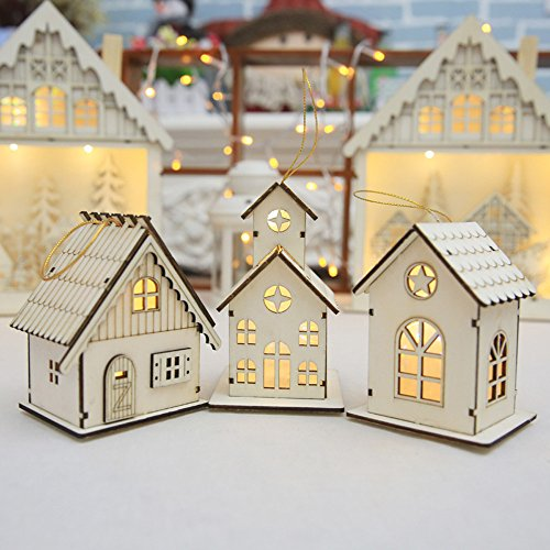 Wall of Dragon New year Christmas Led Luminous Cabins Pendant Table Cabins Pendant Ornaments christmas decoration for home enfeite de natal