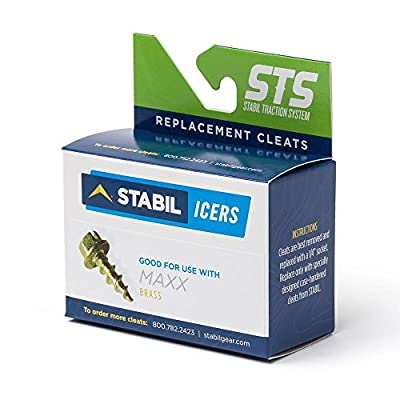 STABILicers Spark-Resistant Brass Replacement Cleats Maxx, 50 Traction Ice Cleats, OS