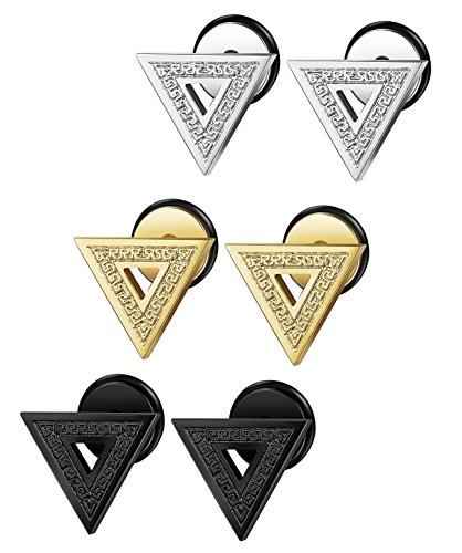FIBO STEEL Stainless Triangle Earrings