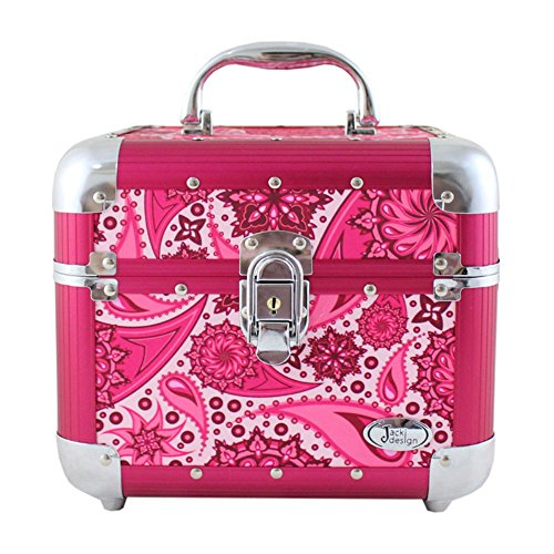 Jacki Design Summer Bliss Paisley Train Case (Hot Pink) BPC28116