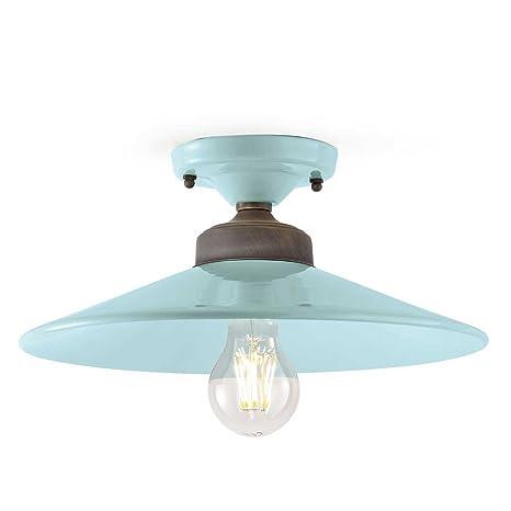 Plafón de Techo diámetro ferroluce - lámpara Retro Colors ...