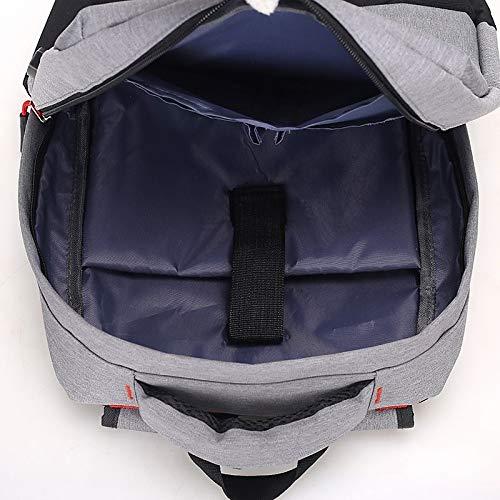 Cotton Polyester main Gra Grande Zipper Main Unisex Gray sac Tout Wine Cloth Dark Oxford De Backpack à Fourre À Bags Gra QZTG Gray Light Sacs Capacité qp0E48wB