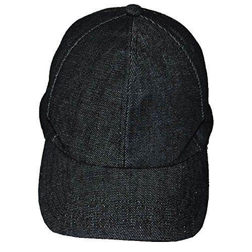 Age Cap (Denim Weighted Baseball Cap – Adjustable Size for Ages 5+ Black Stretch Denim)