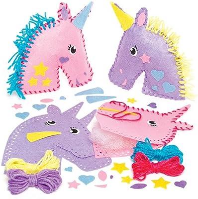 Baker Ross Kits Para Coser Cojines De Unicornio De Fieltro Paquete