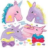 Kits de Couture Coussins Licornes en Feutre que les Enfants pourront Fabriquer et Décorer pendant leurs Loisirs Créatifs de l'Été, puis Exposer (Lot de 2)