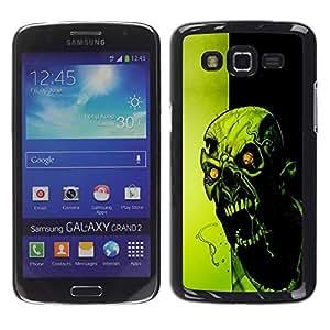 Be Good Phone Accessory // Dura Cáscara cubierta Protectora Caso Carcasa Funda de Protección para Samsung Galaxy Grand 2 SM-G7102 SM-G7105 // Crazy Evil Zombie