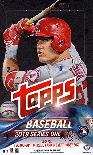 2018 Topps Series 1 Hobby Box 36 Packs of 10 Cards: 1 Autograph or Relic Card, 21 - 24 Inserts, 3 Parallels