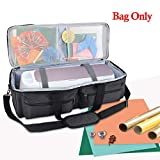 Yarwo Craft Tote Bag Compatible with Cricut Explore Air, Air 2, Maker and Silhouette Cameo 3, Tool Carrying Case for Cutting Machine and Supplies, Black (Bag Only)