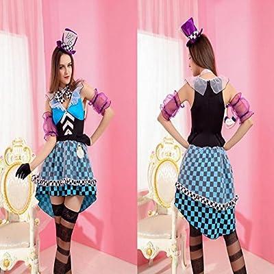 GH misteriosa azul magician falda vestido de payaso de circo de ...
