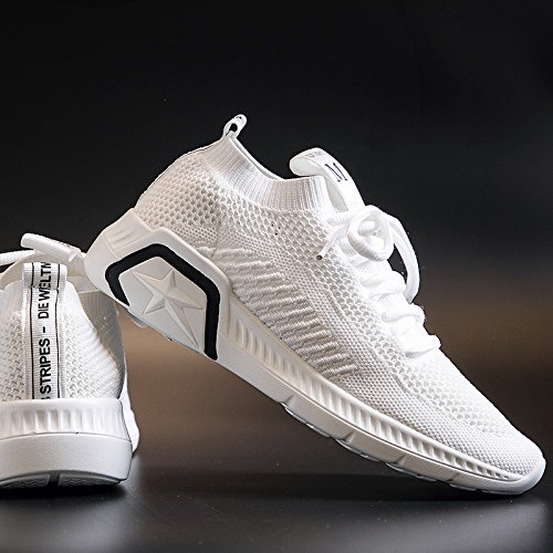 QQWWEERRTT Zapatos Transpirable nuevos para Correr Verano Salvaje Zapatillas Moda Harajuku Plataforma Deportivos Mujer blanco rtqanrxEzF