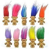 10Pcs/lot Random vintage trolls Lucky Doll Mini Figures Toy 1