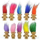 10PCS Mini Troll Dolls, PVC Vintage Trolls Lucky