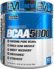 Evlution Nutrition BCAA5000 Powder 5 Grams of Premium BCAAs