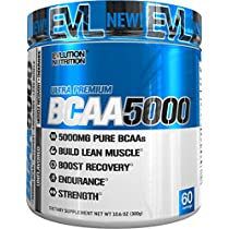 Evlution Nutrition BCAA5000 Powder 5 Grams of Premium BCAAs, 30 Servings