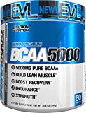 Evlution Nutrition BCAA5000 Powder 5 Grams of Premium BCAAs (Unflavored, 60 Serving)