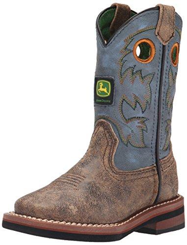 - John Deere Children Pull-On Boot (Toddler/Little Kid),Brown/Blue,13.5 M US Little Kid