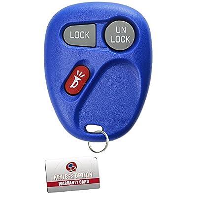 KeylessOption Keyless Entry Remote Control Car Key Fob Replacement for 15732803 -Blue: Automotive