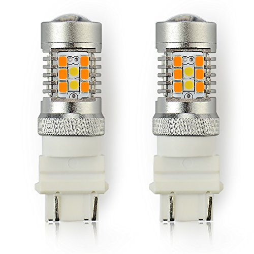 JDM ASTAR Extremely Bright PX Chipsets White/Yellow 3157 3155 3457 4157 Switchback LED Bulbs For Turn Signal Lights (2011 Honda Civic Led Turn Signal)