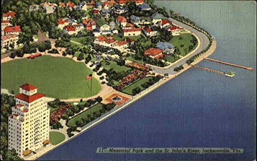 Memorial Park And The St. John's River Jacksonville, Florida Original Vintage - Florida Johns Jacksonville St