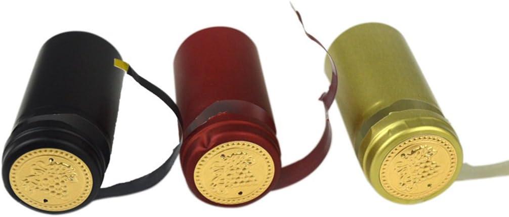 PENG 10 St/ücke Weinflasche W/ärmeschrumpfkapseln Homebrew Top Cap Lose Linie Peeling Einfach