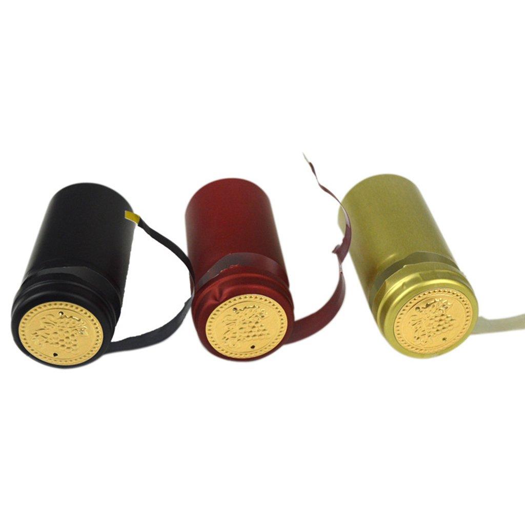 Compra SimpleLife 10 Piezas Botella de Vino Cápsulas retráctiles térmicas Homebrew Tapa Superior Línea Suelta Peeling Easy en Amazon.es