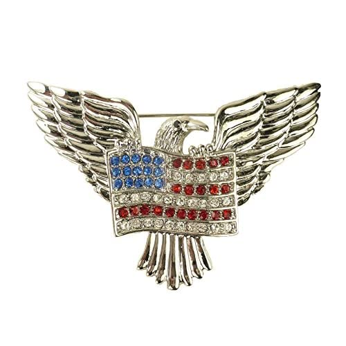 "For Love of Country ""American Eagle and Flag"" Pin Brooch"