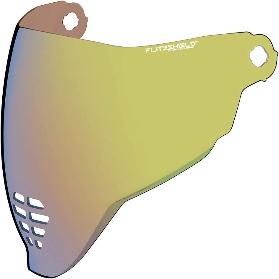 Icon Flite Shield Visor For Icon Airflite Integral Helmet Colour Gold Mirrored Auto