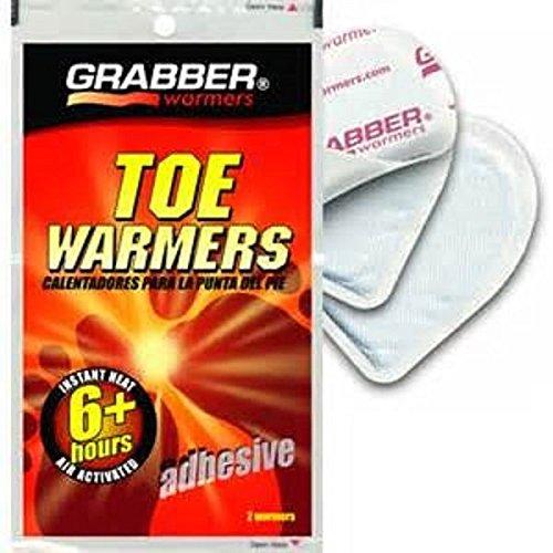 DistiKem(TM) GRABBER WARMERS Adhesive Toe Heater, Averages 100 Degrees For 6 Plus Hours - Grabber Toe Heater