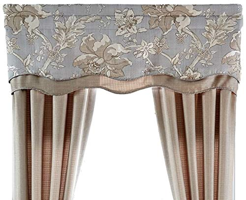 - Estate By Croscill Alexandria Layered Scalloped Valance - 52'' X 19''