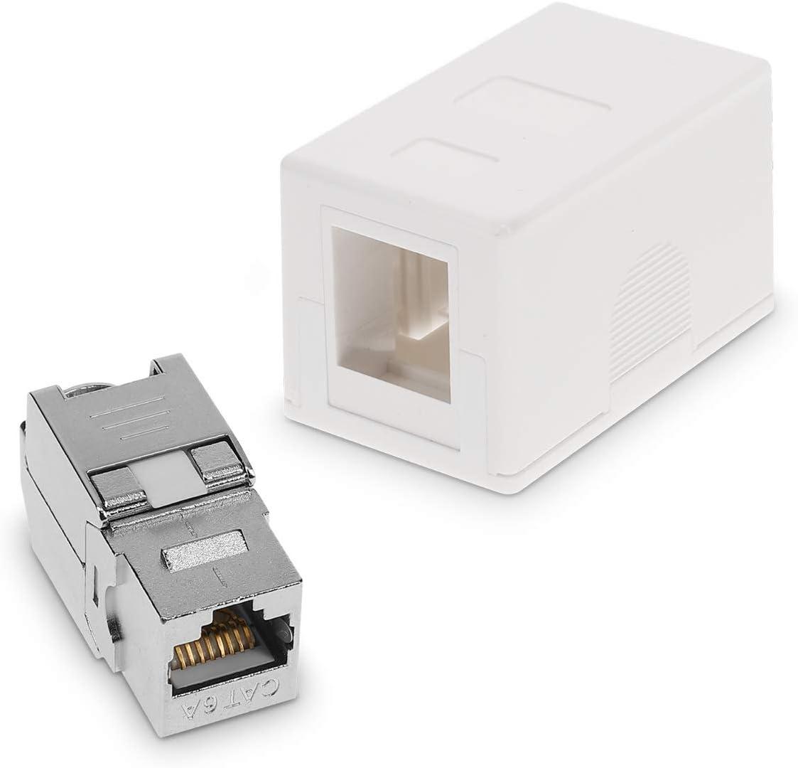 Kwmobile 1x Cat 6a Surface Mounted Network Socket Including 1x Keystone Module 1 Port Rj45 Socket 10 Gbit S Network Lan Wall Socket Internet Socket Set In White White 50453 02 01 M000142 Baumarkt