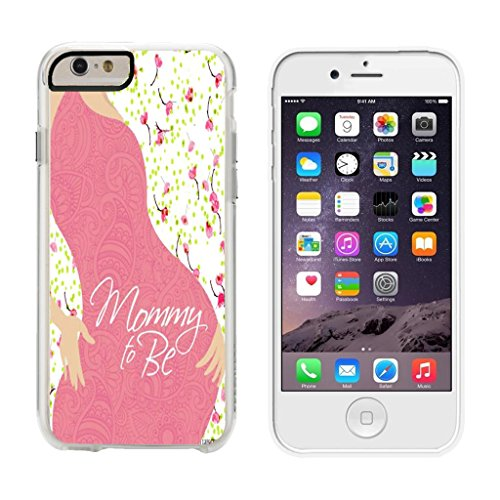 Mommy Silhouette (Mommy To Be Silhouette - iPhone 6 Plus Clear Cover Case)