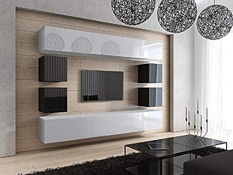 HomeDirectLTD Moderno Conjunto de Muebles para salón Blanco ...