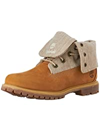 Timberland Women's Auth Canvas FLD DN WHT Fold-Down Boot