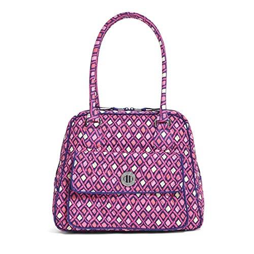 Vera Bradley Turn Lock Satchel Bag In Katalina Pink Diamonds 14807