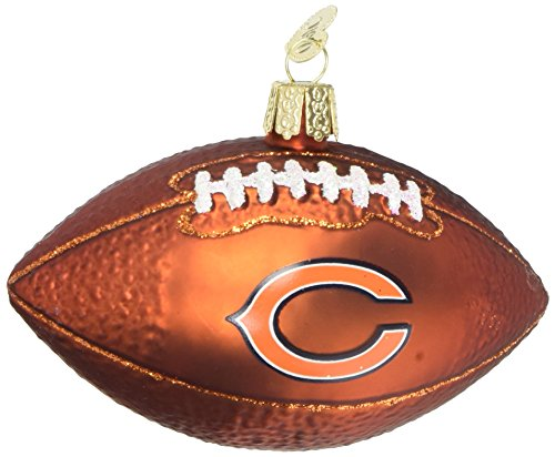 Old World Christmas Chicago Bears Football Glass Blown Ornament