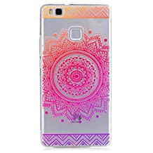 KSHOP Samsung Galaxy J3 J310 TPU Soft Case Transparent TPU Silicone Cover Bumper ShellColorful Pattern Design Clear Crystal Protective Back Bumper Shell-Rose Mandala